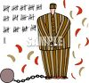 Prisoner Marking the Days on the Wall clipart