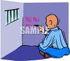 Jail Inmate Ticking off the Days Left on His Cell Wall clipart