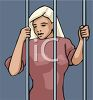 Girl in Jail clipart