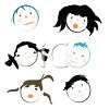 Collage of Children's Faces clipart