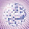 Shiny Blue and Purple Disco Ball clipart