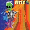 Disco Poster with a DJ and Dancing Girls clipart