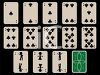 Cards Laid Out for a Game of Solitaire clipart