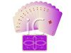 Suit of Diamonds Cards Spread Out in a Fan clipart