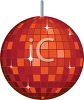 Red and Orange Sparkling Mirrored Disco Ball clipart