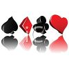Shapes of Diamonds, Clubs, Spades and Hearts from a Deck of Cards clipart