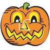 Halloween Graphic Design Element of a Wicked Jack O Lantern clipart
