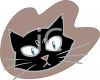 Halloween Graphic Design Element of a Black Cat Face clipart