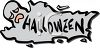 Ghost Shaped Halloween Banner clipart