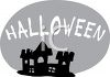 Halloween Banner with a Haunted House Graphic clipart
