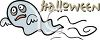 Ghost Halloween Banner clipart