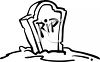 Halloween Graphic Design Element of a Headstone with RIP clipart