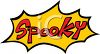 Halloween Graphic Design Element of a Spooky Text Banner clipart