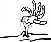 Halloween Graphic Design Element of a Corpse Hand Sticking Out of a Grave clipart