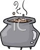 Halloween Graphic Design Element of a Bubbling Cauldron clipart