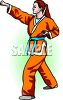 Woman Practicing Karate clipart