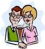 Couple Sharing a Milkshake clipart