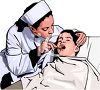 Realistic Female Doctor Examining a Child's Mouth clipart
