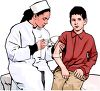 Realistic Boy Getting an Immunization clipart