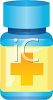 3D Bottle of Medication clipart