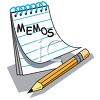 Memo Pad and Pencil clipart