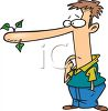 Cartoon of a Liar with His Nose Growing clipart