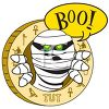 Egyptian Mummy Saying Boo clipart