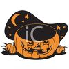 Black and Orange Halloween Pumpkin Graphic clipart