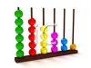 3D Render of an Abacus in Bright Colors clipart
