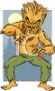 Cartoon of a Scary Werewolf Man clipart