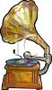 Antique Phonograph Record Player clipart