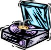 Record Player with a LP Playing On It clipart
