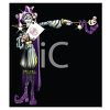 Purple and Silver Joker or Jester for Mardi Gras clipart