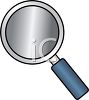 Cartoon Style Magnifying Glass clipart