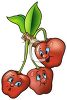 Cartoon of Healthy Food-Cherries on the Tree clipart