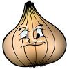 Cartoon of Healthy Food-Yellow Onion clipart