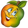 Cartoon of Healthy Food-A Fiber Rich Apples clipart
