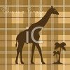 Plaid Square with a Giraffe and This is a Giraffe Text clipart