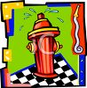 Cartoon Fire Hydrant Design clipart
