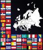 Poster of Flags of the World Around a Map  clipart