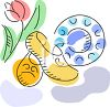 Dutch Wooden Shoes and a Tulip clipart
