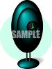 3D Egg Shaped Teal Clock clipart