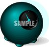 3D Round Teal Clock clipart