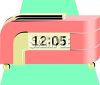 Retro Looking Pink Clock clipart