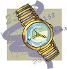 Man's Watch with Increments of Time Icon clipart