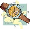 Time Icon with a Watch and Hours and Minutes  clipart