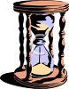 Hourglass Dropping Sand to Mark the Passage of Time clipart