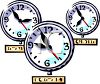 Clocks From Around the World Marking Different Time Zones clipart
