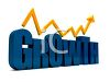 3D Text and Arrow for Company Growth clipart