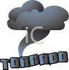 Word Art Tornado with a Dark Cloud Funnel clipart